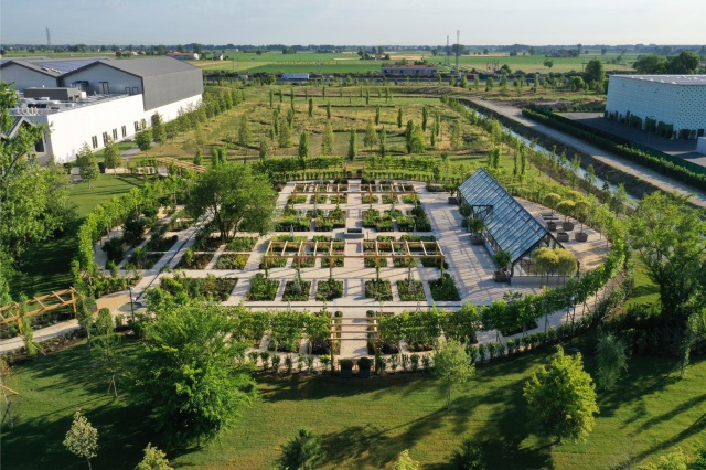 The botanical garden at Davines Village in Parma, Italy.