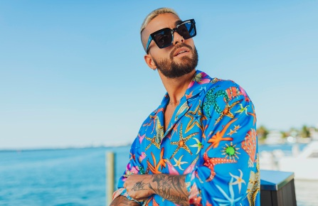 A look from Quay x Maluma collection.