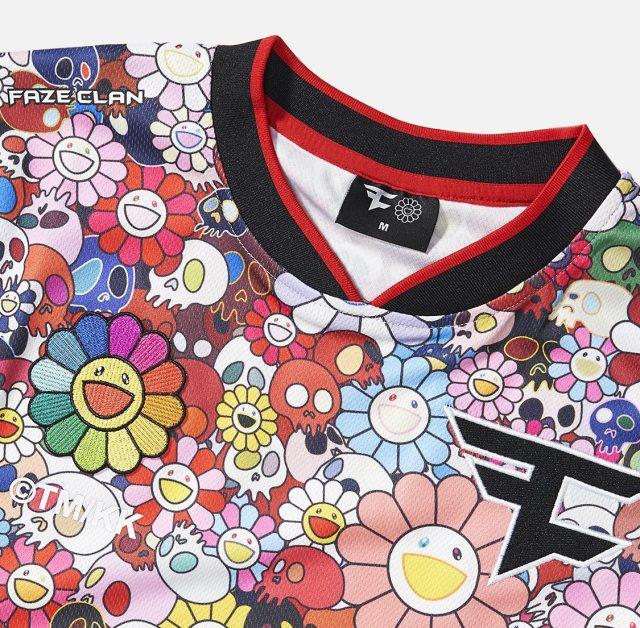 The FaZe Clan x Takashi Murakami jersey