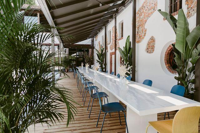 Carlo Cracco's new Carlo al Naviglio restaurant in Milan.