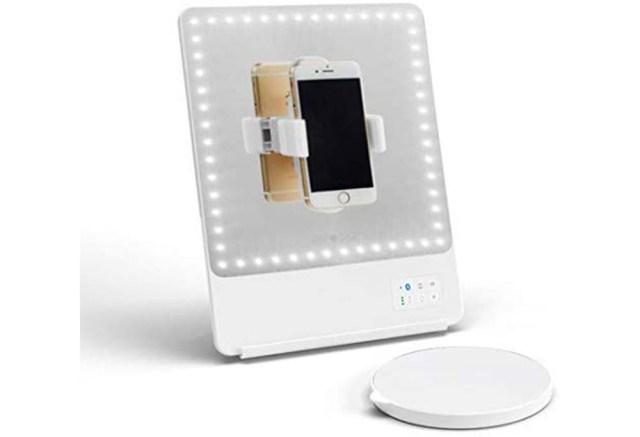 GLAMCOR Riki Skinny Vanity Makeup Mirror with Selfie Function, best amazon prime day deals