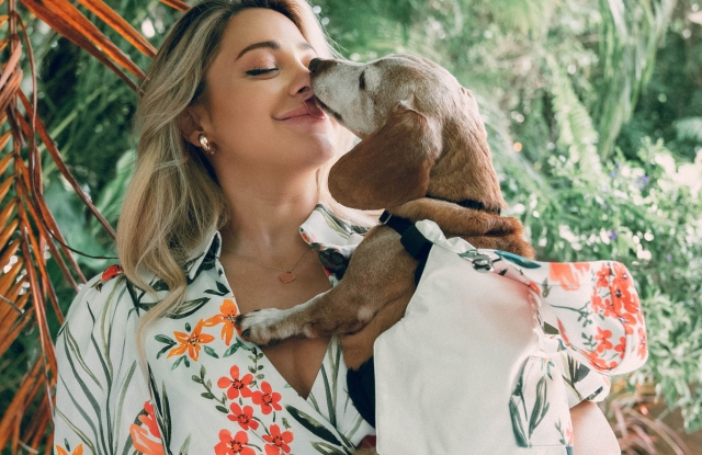 Influencer Gabi DeMartino is helping to spread the word about the new canine collection.