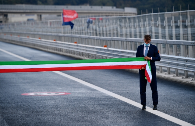 Inauguration of the new bridge designed by Renzo Piano in place of the Morandi bridge.