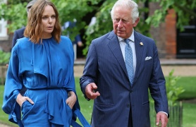 Stella McCartney and Prince Charles, Prince of Wales in Cornwall during the G7 Summit
