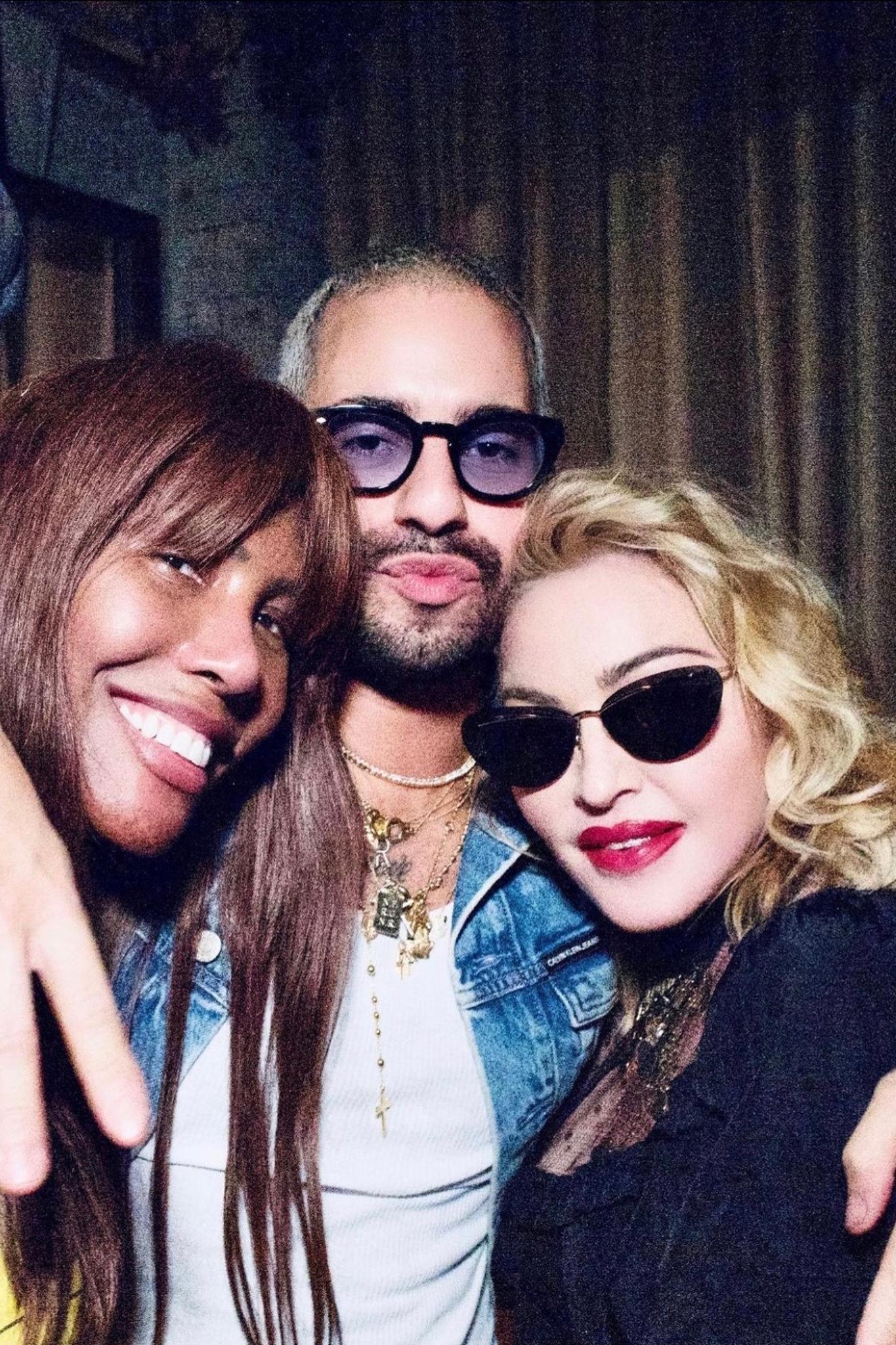 Honey Dijon, Ricardo Gomes and Madonna.