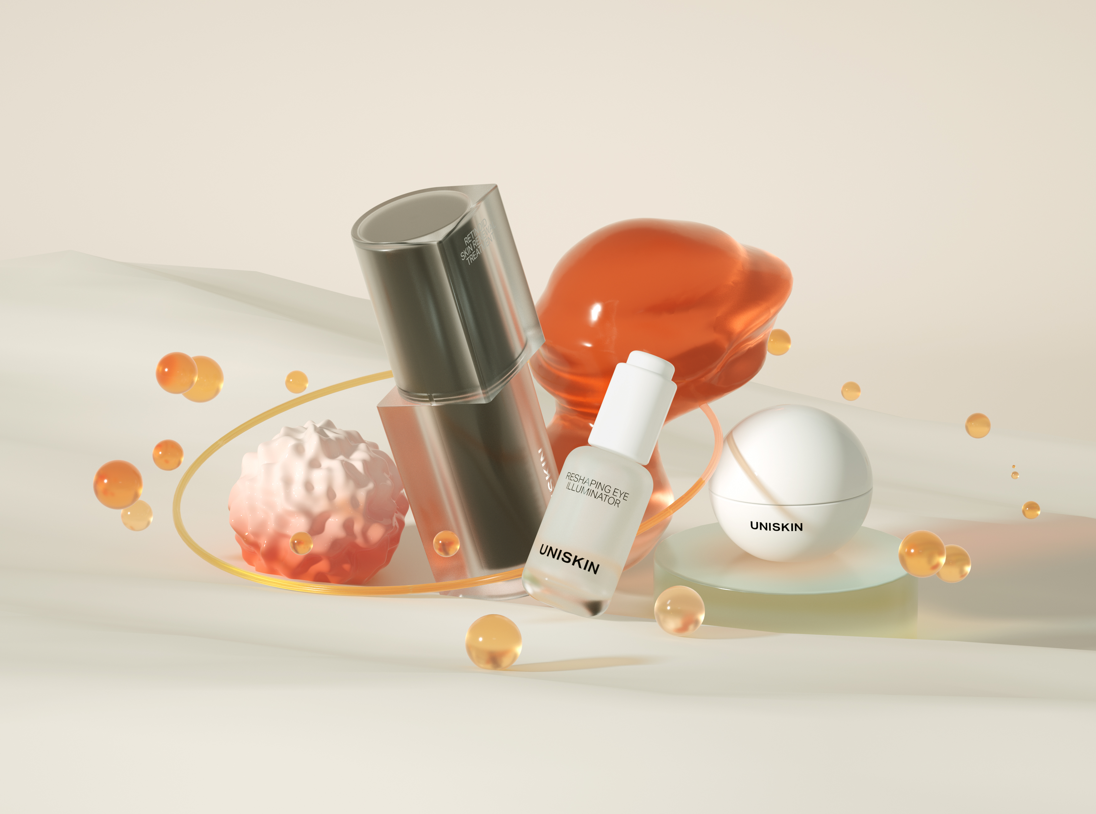 Uniskin's eye cream, which comes in a spherical container, is by far its top seller, accounting for 40 percent of its sales.