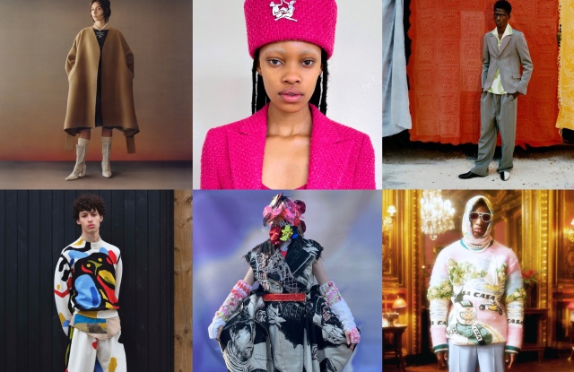 Looks from Lecavalier, Thebe Magugu, Kenneth Ize, Bethany Williams, Matty Bovan, and Casablanca's International Woolmark Prize Merino wool collections