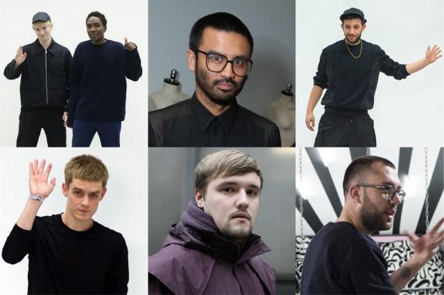 Agi & Sam designer Agi Mdumulla and Sam Cotton, Shaun Samson, Nasir Mazhar, Lee Roach, Joseph Turvey and Kit Neale.