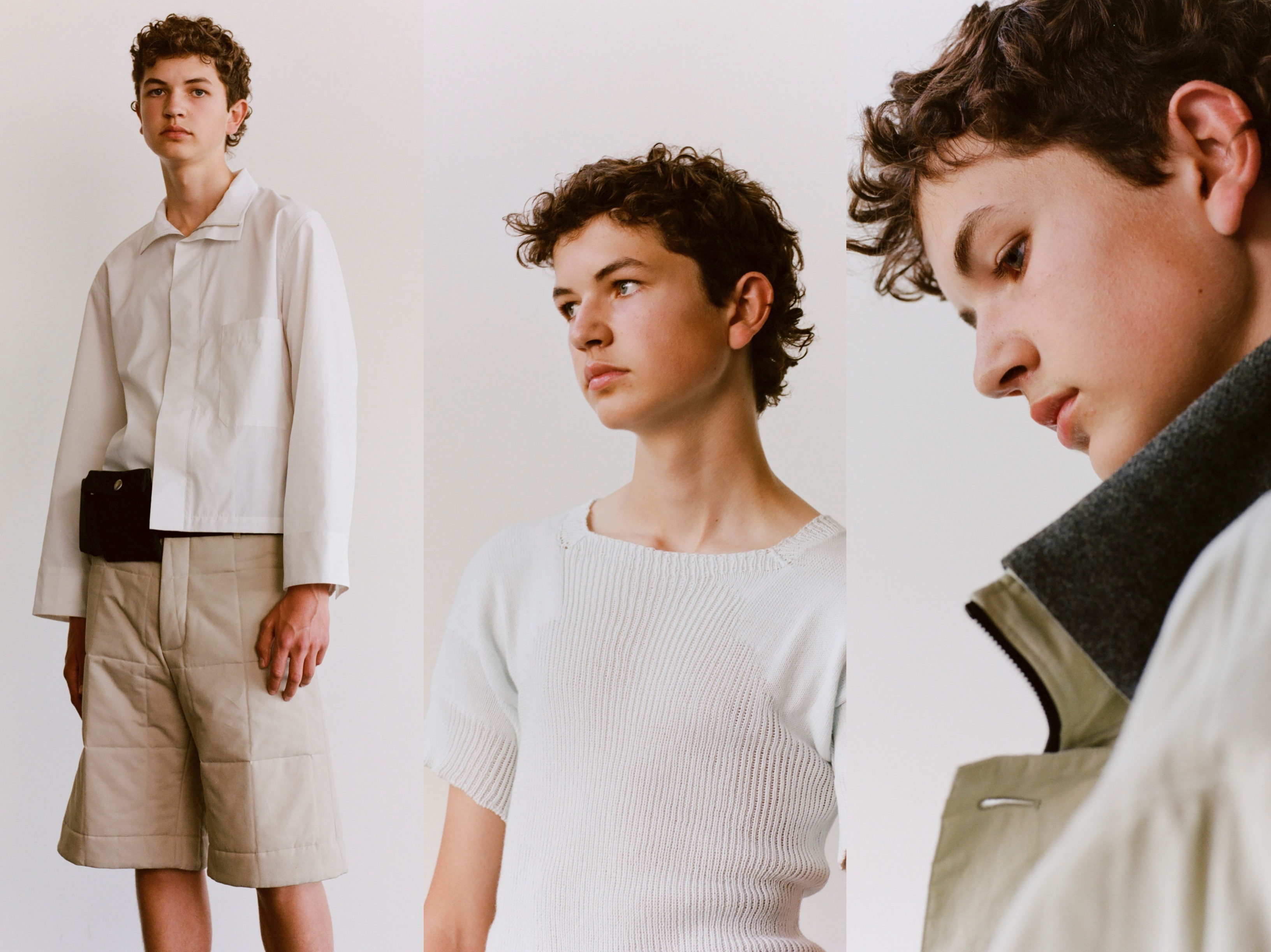 Three looks from Ben Osborn spring 2022 collection