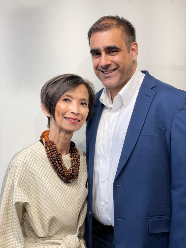Josie Natori and Chaitenya Razdan