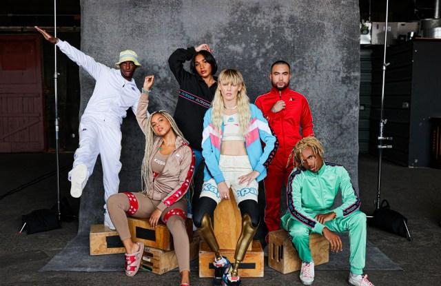 Lauren Wasser, Bloody Osiris, Yaris Sanchez, Kailand Morris, Dj Millie and Esta lensed by Mel D. Cole for the Kappa #KeepPerforming campaign.