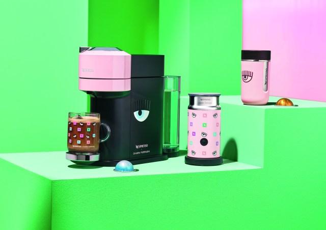 The Nespresso x Chiara Ferragni capsule collection.