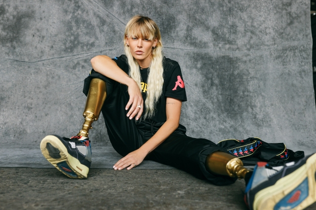 Activist, athlete and model Lauren Wasser lensed by Mel D. Cole for the Kappa #KeepPerforming campaign.