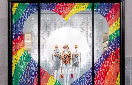 Michael Kors' Rockefeller Center windows.