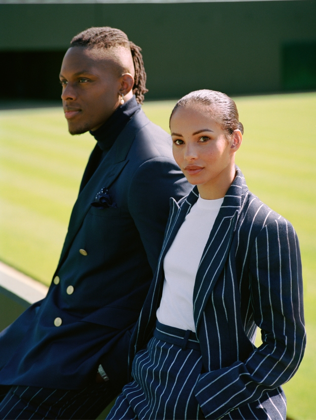 Maro Itoje and Francesca Hayward feature in the new Ralph Lauren Wimbledon campaign