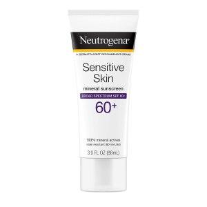 Los mejores protectores solares para pieles sensibles Neutrogena Protector solar mineral para pieles sensibles SPF 60