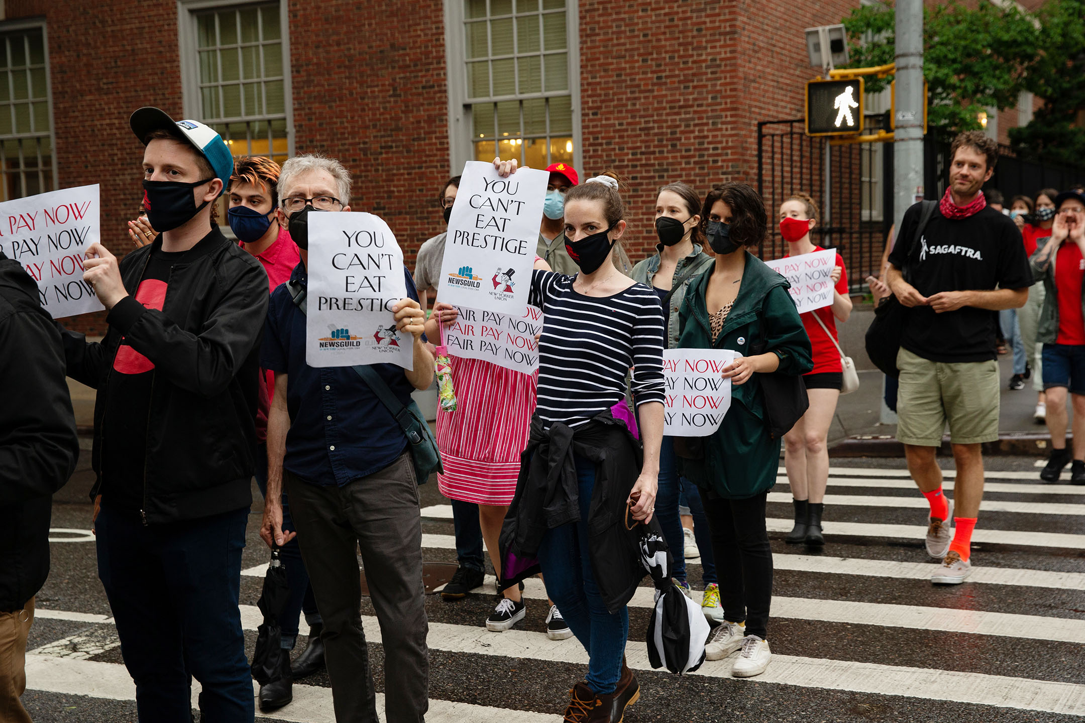 The NewsGuild of New York protest.