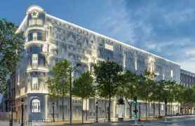The location of the new Dior headquarters on the Avenue des Champs-Elysées in Paris.