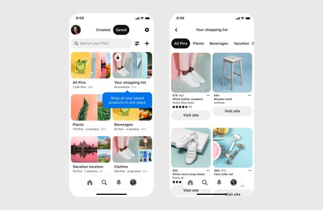 Pinterest announces new Shopping List feature.