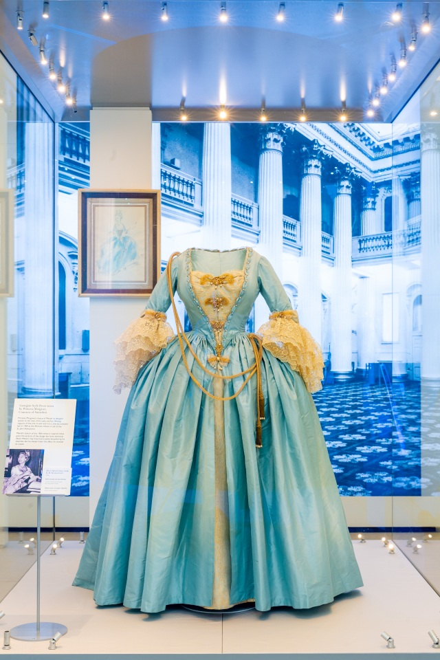 The 18th century costume created by Oliver Messel for Princess Margaret as part of a charitable fundraiser in 1964.