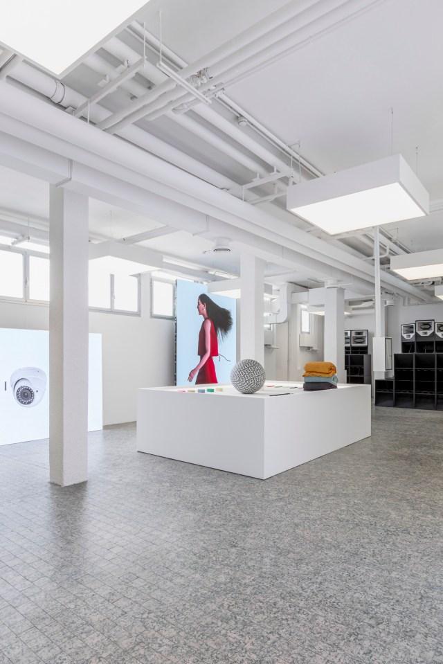 The new Sunnei showroom.