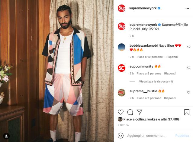 Supreme and Emilio Pucci have announced a collaboration dropping June 10.