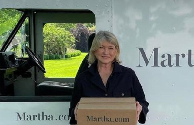 Martha Stewart and her Martha.com truck.
