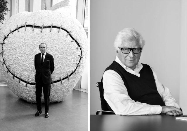 Gildo Zegna, CEO of Ermenegildo Zegna (left) and Patrizio Bertelli, CEO of Prada (right)