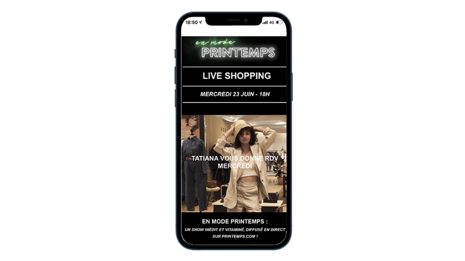 Printemps is debuting live shopping.