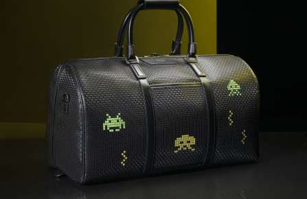The weekender from the Serapian x Space Invaders capsule collection.