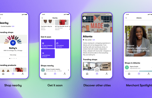 Local discovery features in Shopify's Shop app.