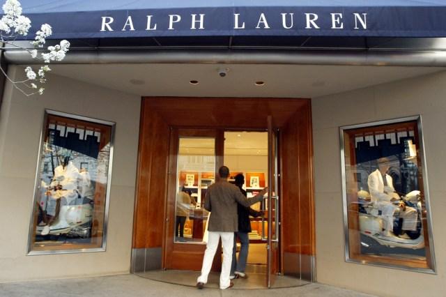 Ralph Lauren store on New York's Upper East Side.