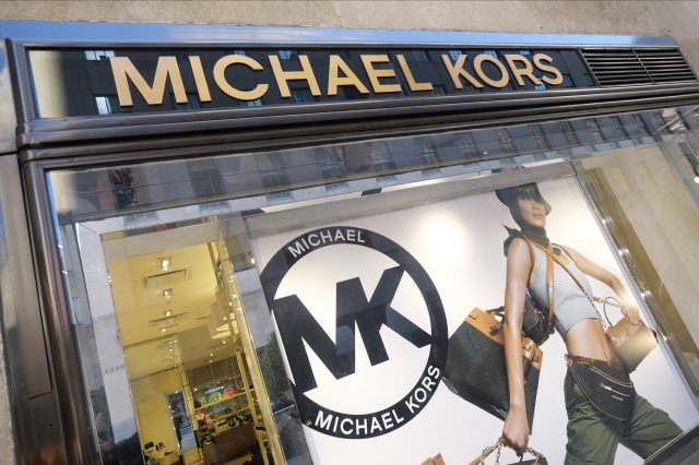Michael Kors storefront in Rockefeller Center in New York.