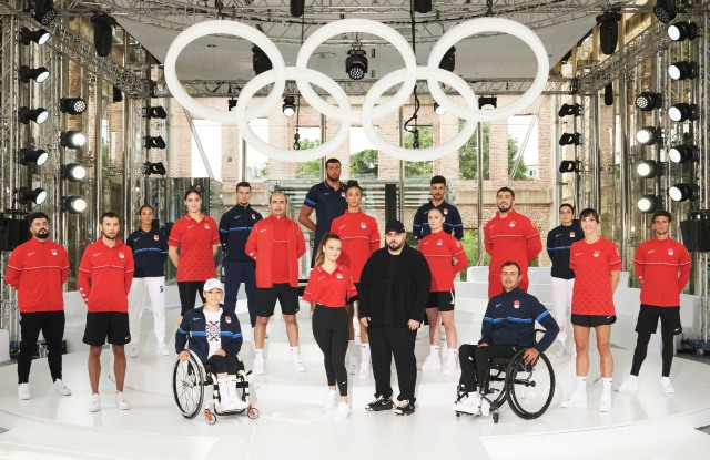Les Benjamins creative director Bunyamin Aydin and the Turkish Olympic Team.