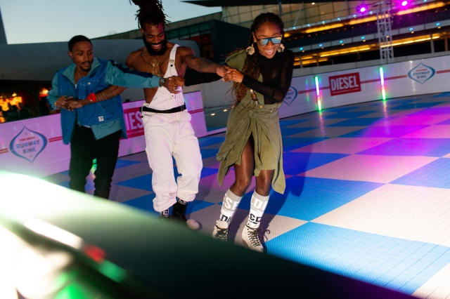 """The scene at Diesel's """"Summer in the City"""" party at TWA Hotel."""