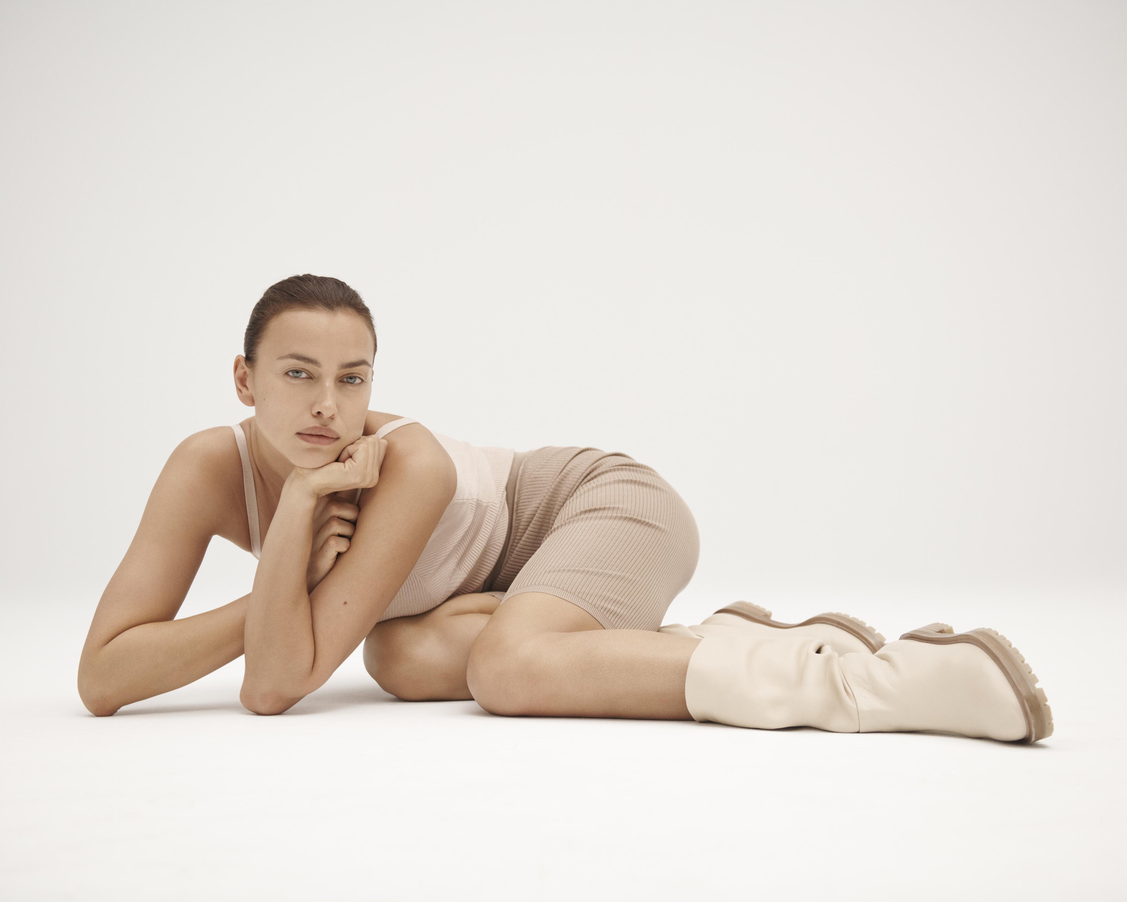 A campaign image from the Tamara Mellon x Irina Shayk collaboration.