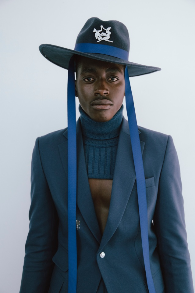 A Thebe Magugu spring 2021 look.