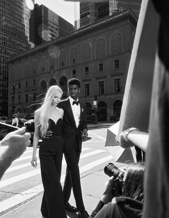 Anya Taylor-Joy and Alton Mason in a campaign for Tiffany's upcoming 'Tiffany Knot' campaign.