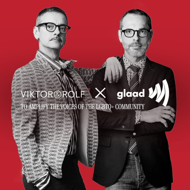 Viktor & Rolf is partnering with GLAAD.
