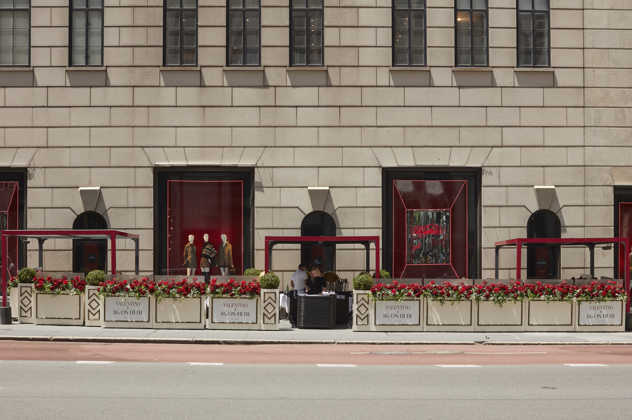 Valentino themed shops at Bergdof Goodman's Fifth Avenue flagship.