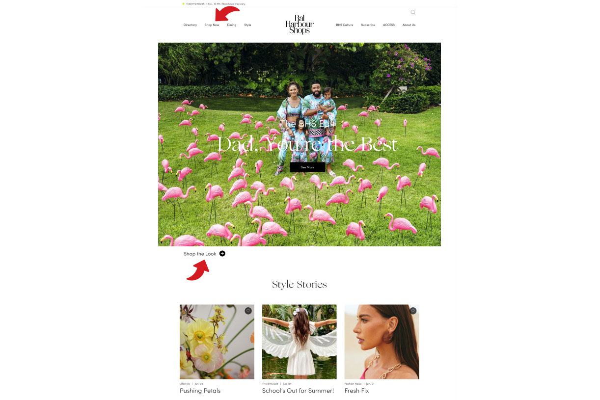 The Bal Harbour website.