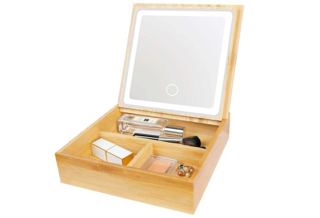 2 in 1 Bamboo Lighted Makeup Mirror, best amazon prime day deals