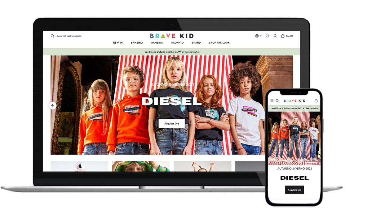 Brave Kid has launched its online store bravekid.com