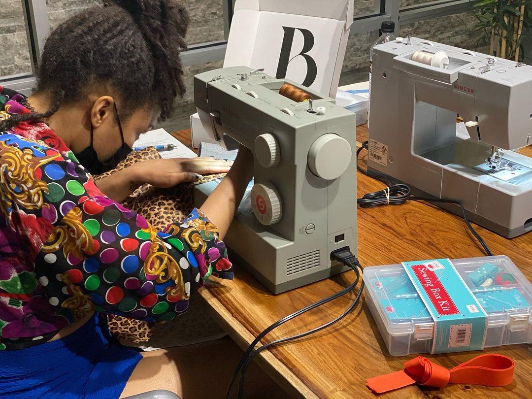 Black Fashion Fair, Brooklyn Sewing Academy workshop