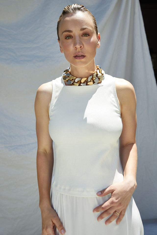Givenchy dress and necklace.