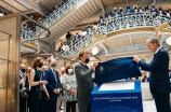 French President Emmanuel Macron joined luxury magnate Bernard Arnault to inaugurate the renovated La Samaritaine department store in Paris.