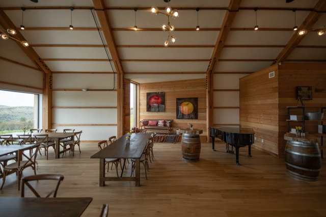 The tasting room at Seminary Hill.