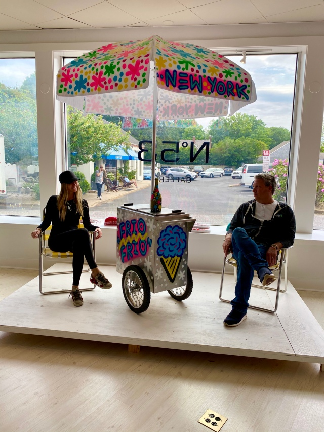 Ice cream cart installation at N.53 Gallery.