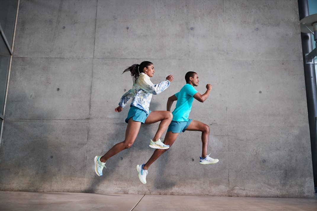 Looks from Hoka's current apparel collection.
