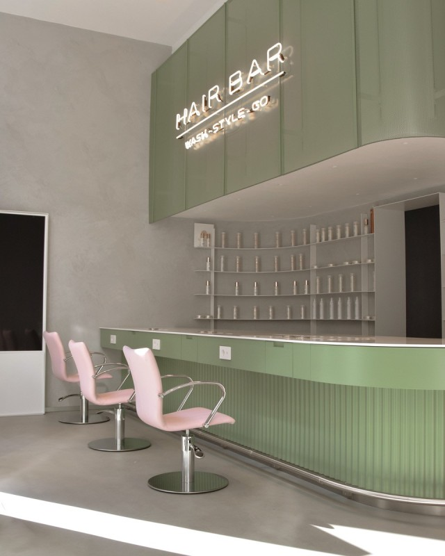 Inside Hair Bar, the new blow-dry bar in Milan.